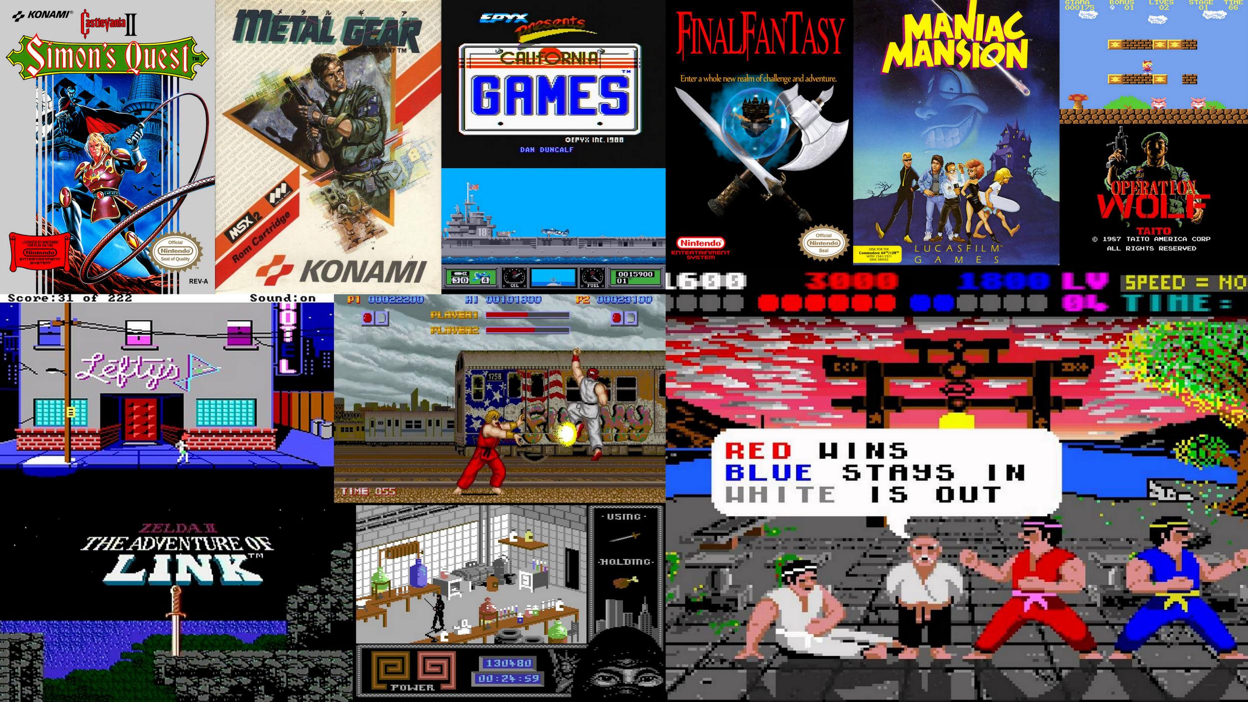 Spillåret 1987 – en liste